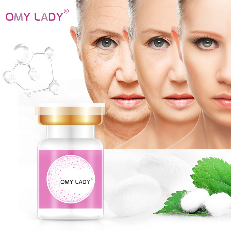 Serum Face Omy Lady Active Collagen Silk Thread Ball Skin Care Face Essence Serum Anti-aging Easy To Absorb Smoothing Firming Moisturizing