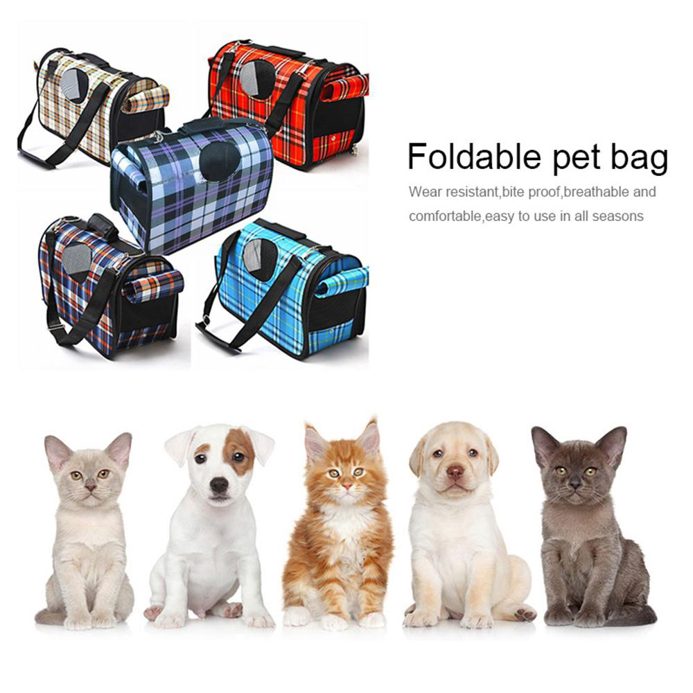 1e98baa8dc Folding Pet Carrier Plaid Pattern Pet Hiking Carrier Portable Breathable  Case | Shopee Malaysia