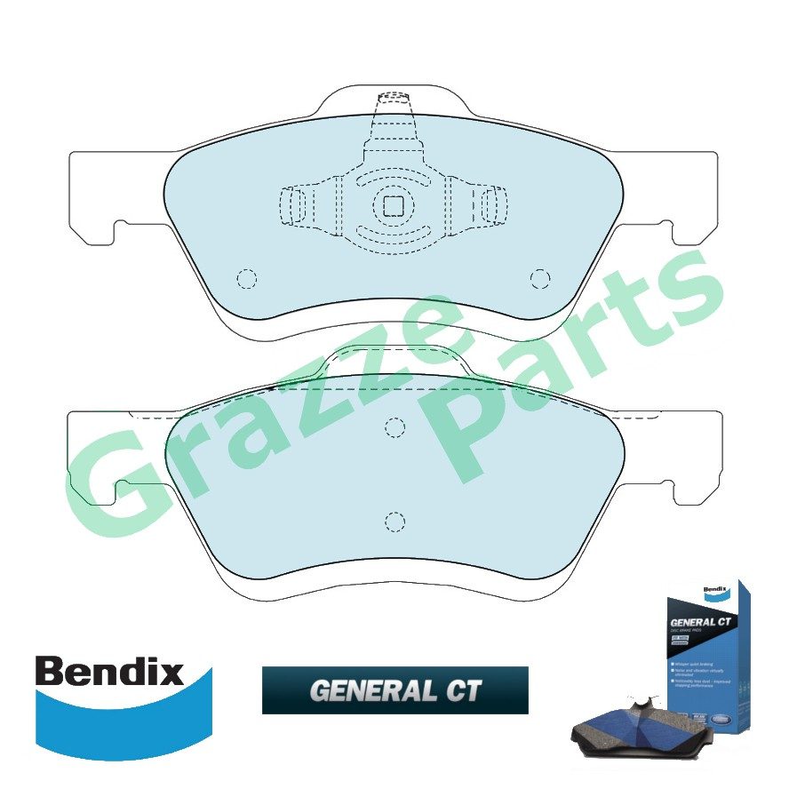 Bendix General CT Disc Brake Pad Front for DB1821 Mazda Tribute 2.3 2.5 3.0 EP EP2