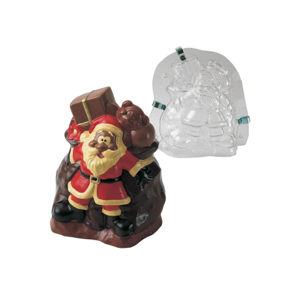 MARTELLATO, Chocolate Mould, Santa Claus With Gifts