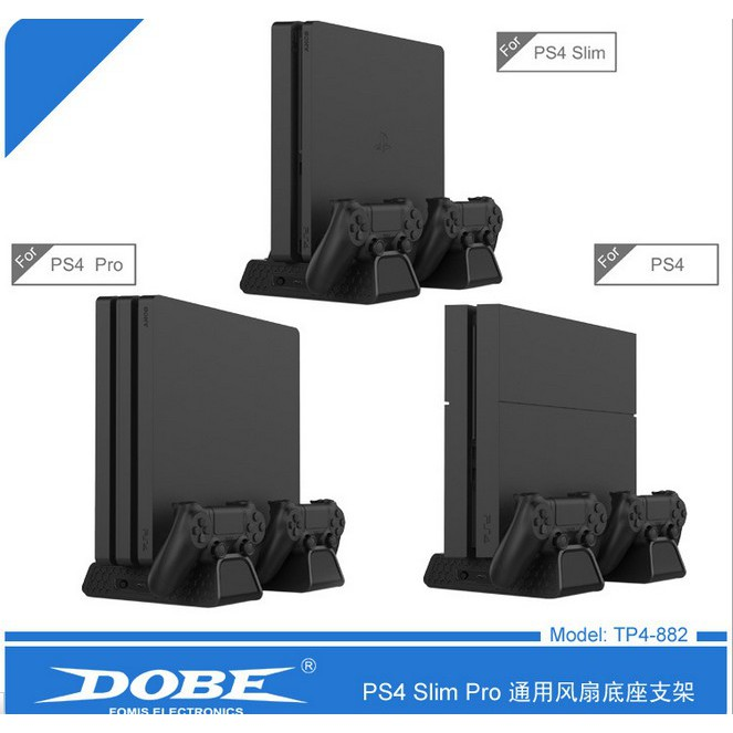 Original PS4 DOBE Slim PRO Multi-functional Cooling Vertical Stand Charging  Dock