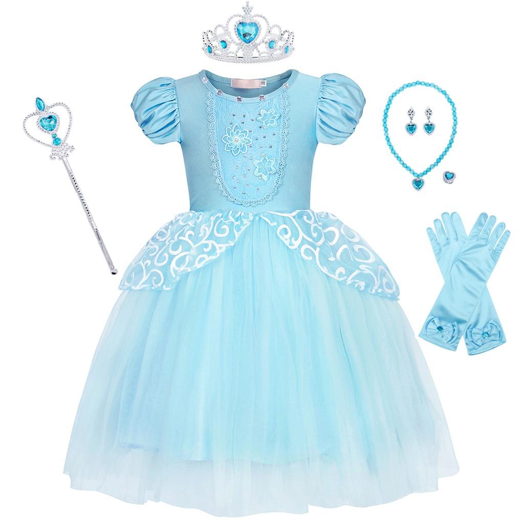 2018 NWT Girls Cinderella Princess Dress Kids Cosplay Birthday Wedding Party O57