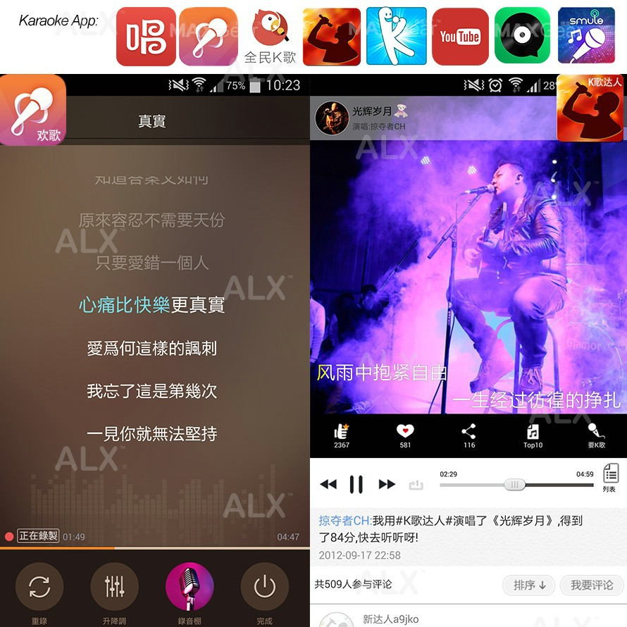 ALX Karaoke KTV Mic Bluetooth Speaker Microphone Sing Record
