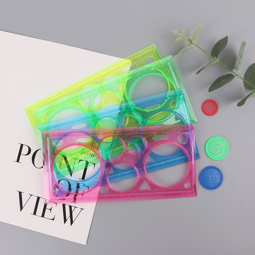 Transparent Spirograph Geometric Template Ruler Drafting Drawing Tools Ture 100% Guarantee Office & School Supplies Rulers