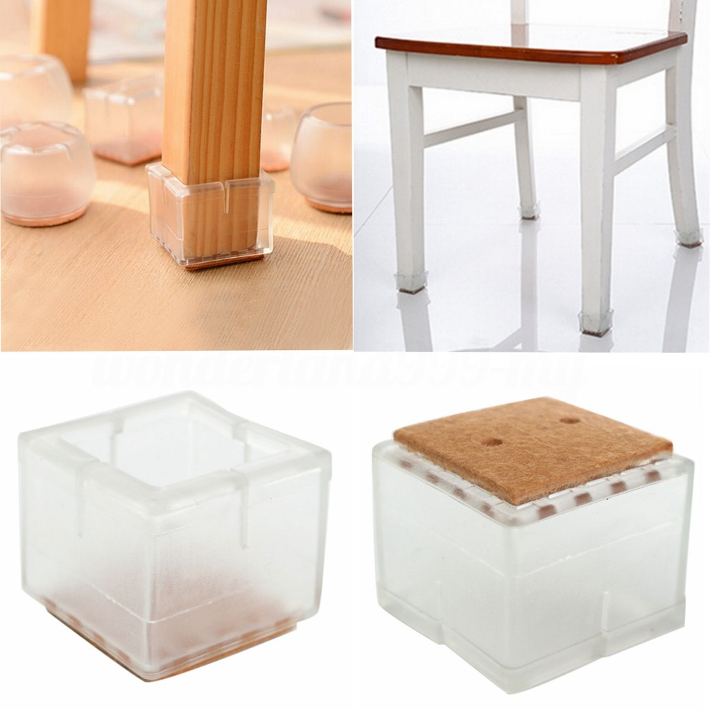 Silicone Rubber Chair Leg Caps Feet Pads Furniture Table Covers Floor Protectors