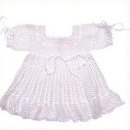 Noisebox  White Crochet Dresses  For Age 3 Years Old
