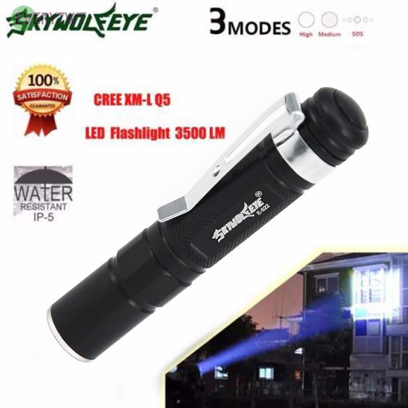 5000LM Aluminum Alloy COB LED Tactical Flashlight Portable Lantern EV Sporting Goods