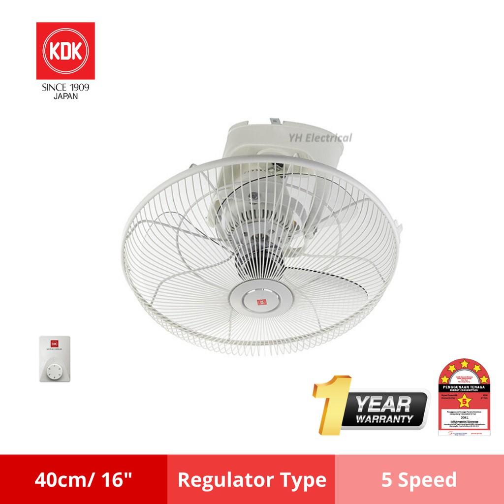 Kdk Kq409 16 Auto Fan 360 Degree Shopee Malaysia