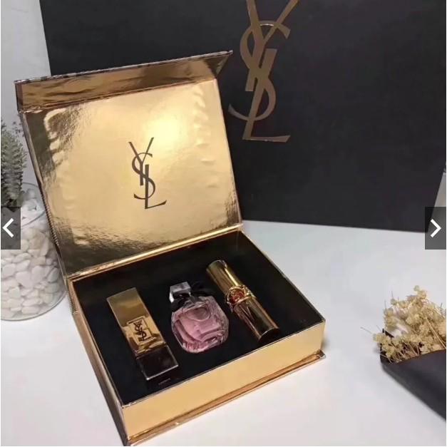 YSL / Saint Laurent Golden Love Perfume Lipstick Limited Three-piece Set