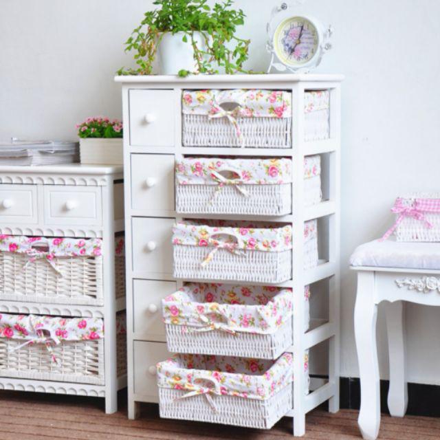 [ READY STOCK ]  Nordic Creative Storage Table Wood Kitchen Furniture Box Rack Cabinet Perabut Jualan Murah Almari Baby