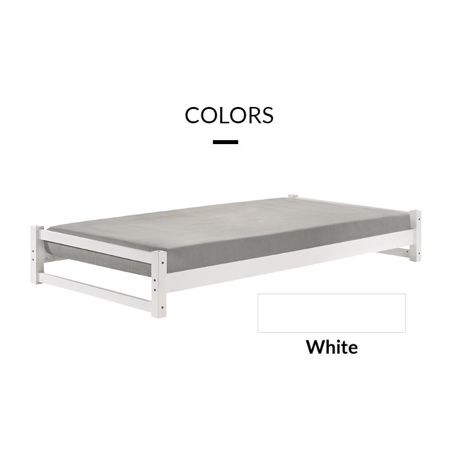 TWIGGY solid wood stackable single bed/ suitable for airbnb hostel and guest room