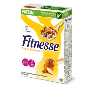Nestle Fitnesse Cereal Honey & Almond 2x390g