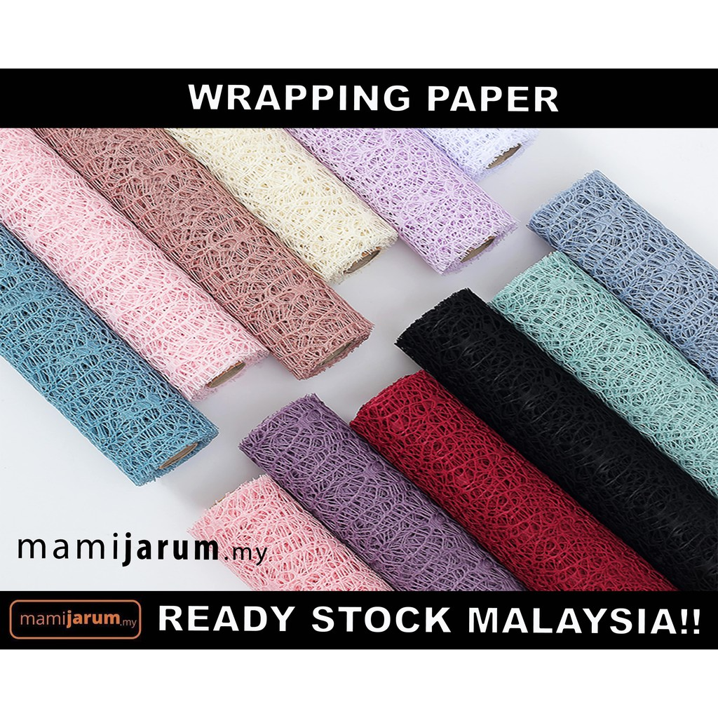 Wrapping Paper Mesh (1 Roll) (Flower/Bouquet) (4 meter)