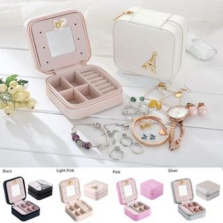 4eb1d8f163b6 Travel Jewelry Organizer Box Cosmetic Makeup Jewelry Earrings ...
