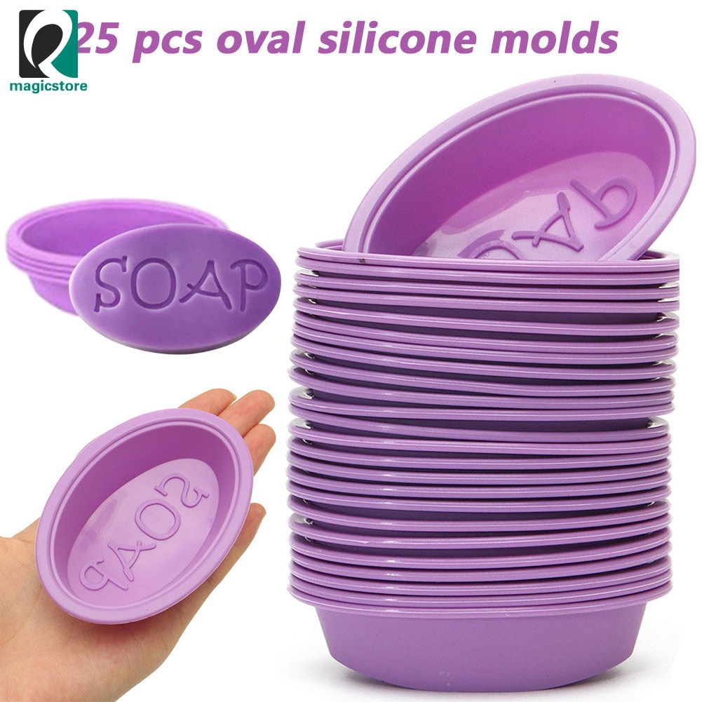 Oval Cake Mold Soap Mold Silicone Mould For Candy Ice Tray DIY Making Tool Kit