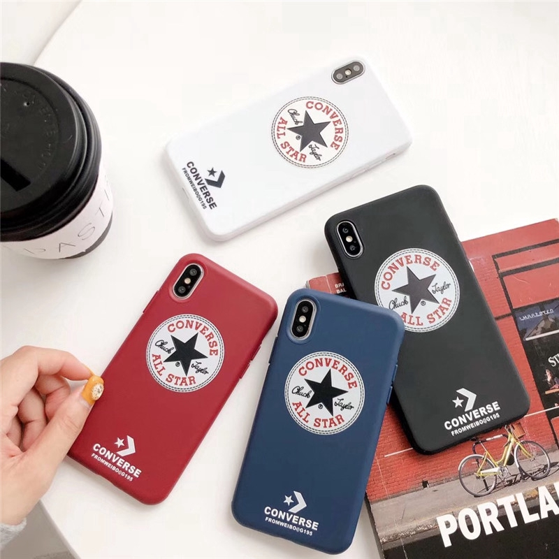 Fashion trend Converse soft TPU phone case iPhone 7 8 Plus X XS MAX XR phone case 6 6S Plus