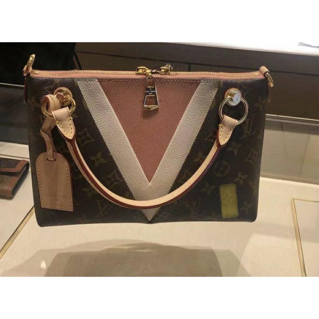 Louis Vuitton V Tote Bb Handbag Lv