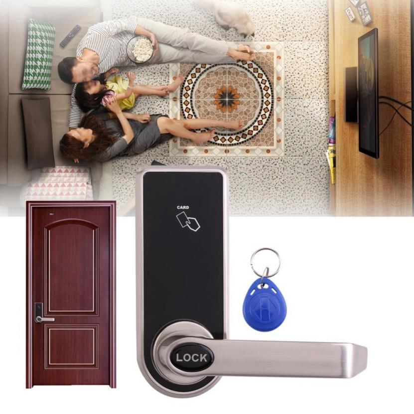 Digital Electronic Code Keyless Keypad Security Entry Door Lock 5 RFID Card Tag