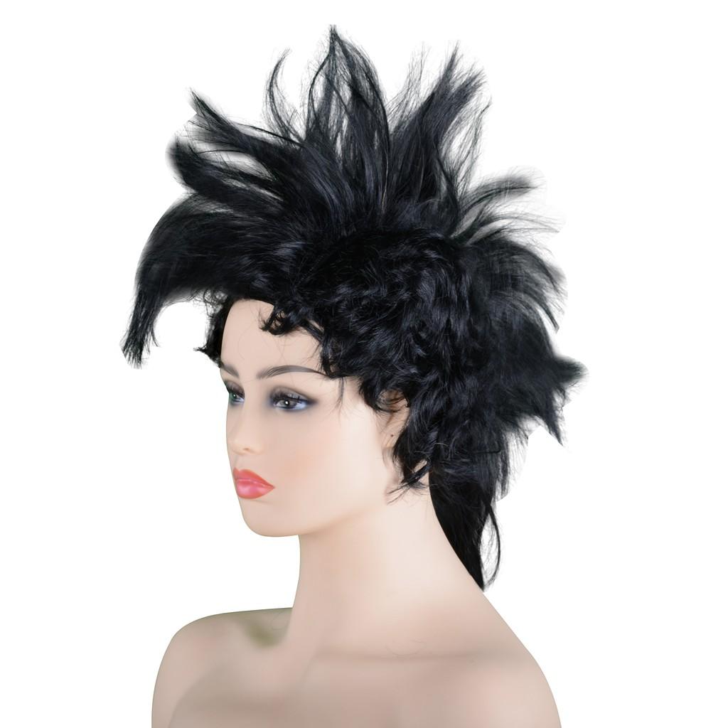 Mohawk Punk Costume Wig Fancy Dress Heavy Metal Rock Rock Cosplay