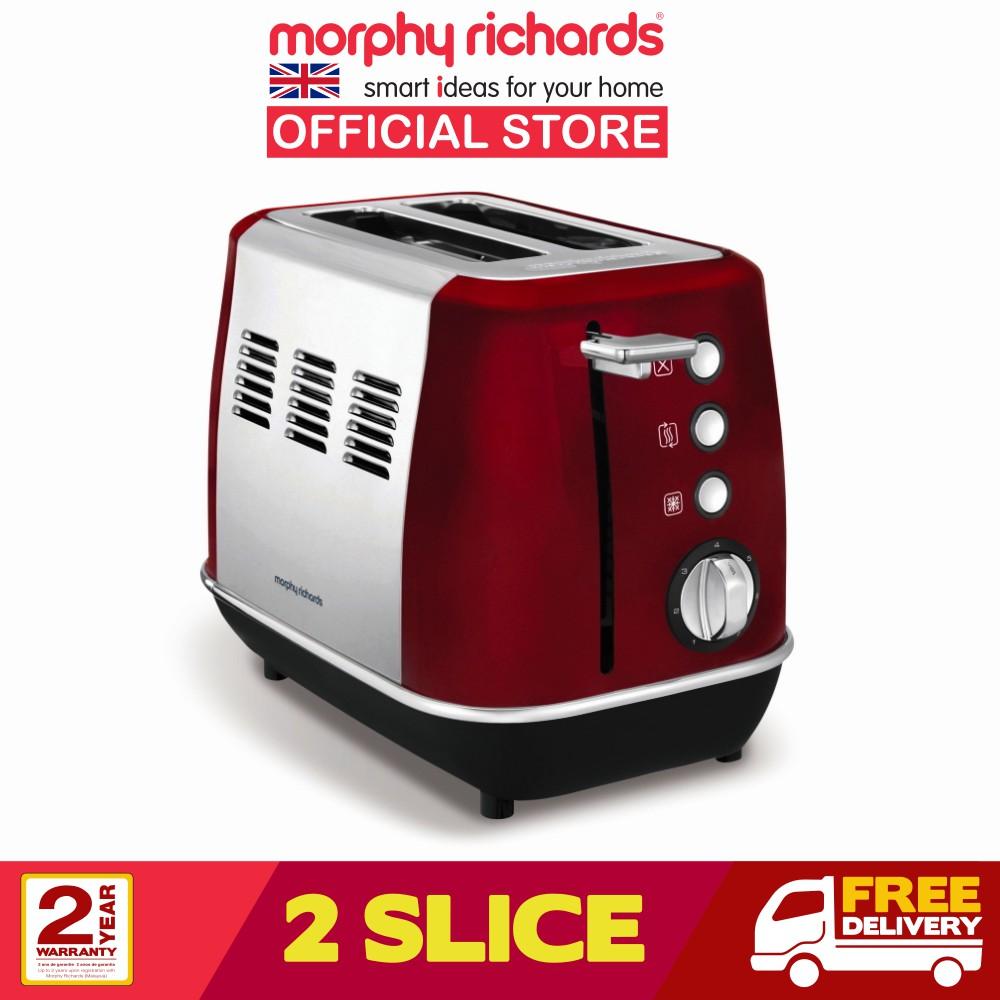 Morphy Richards Toaster 2 Slice Evoke Red 224408
