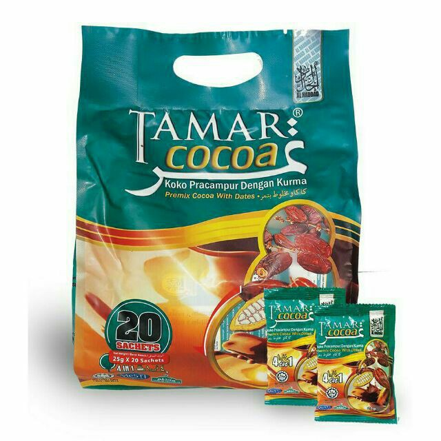 TAMAR COCOA (KOKO PRACAMPURAN KURMA) 4 IN 1 25G X 20 SACHETS 100% ORIGINAL HQ+ FREEGIFT