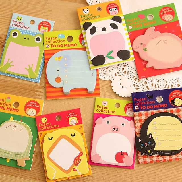 Korean Stationery Cute Animal Note book N times Posted Sticky Note