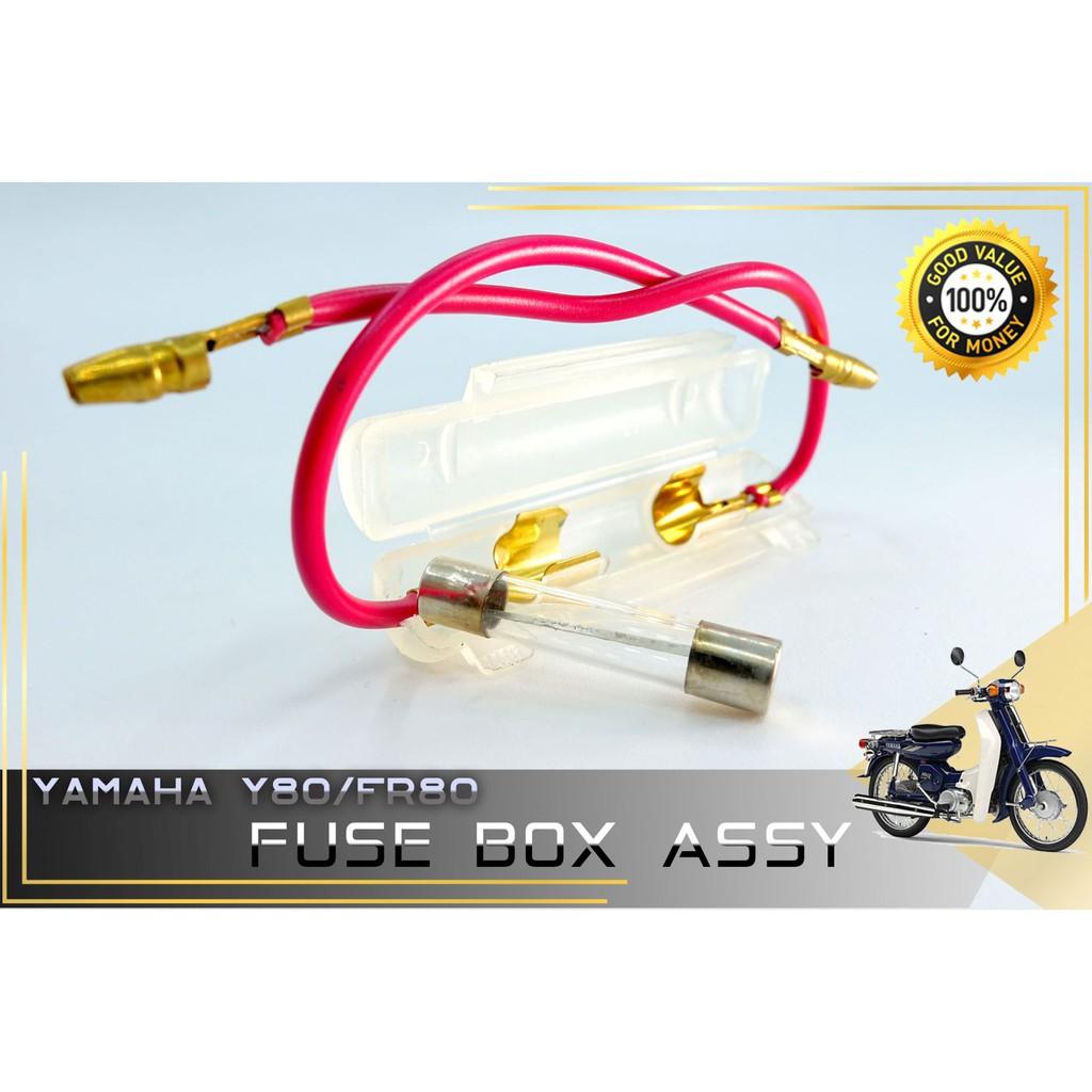 FR 80 FR80 Y80 Y 80 Motorcycle Fuse (Fius) Box Battery (Bateri) Fuse Glass Fuse Box 15A 12V