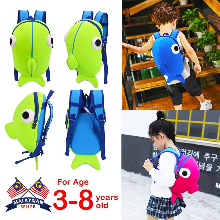Children Backpack Little Whale Boy Girl School Bag Children Kid Bag For Unisex