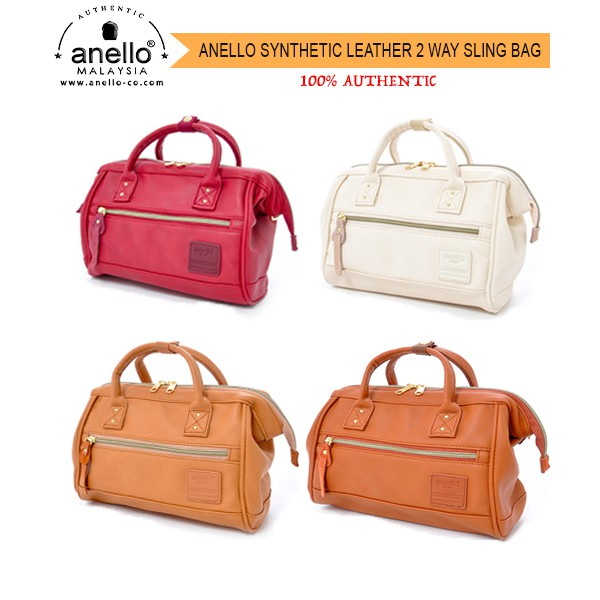 14837c63c5 Anello Synthetic Leather Mouthpiece 2-ways LARGE Sling Bag (Various Colors)  AT-H1022   100% Authentic   Shopee Malaysia