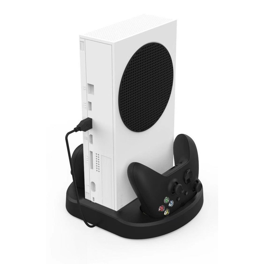 XBOX SERIES KJH MULTI-FUNCTION CHARGING AND STORAGE STAND WITH COOLING FAN FOR XBOX SERIES X/S - SERIES S VERTICAL STAND