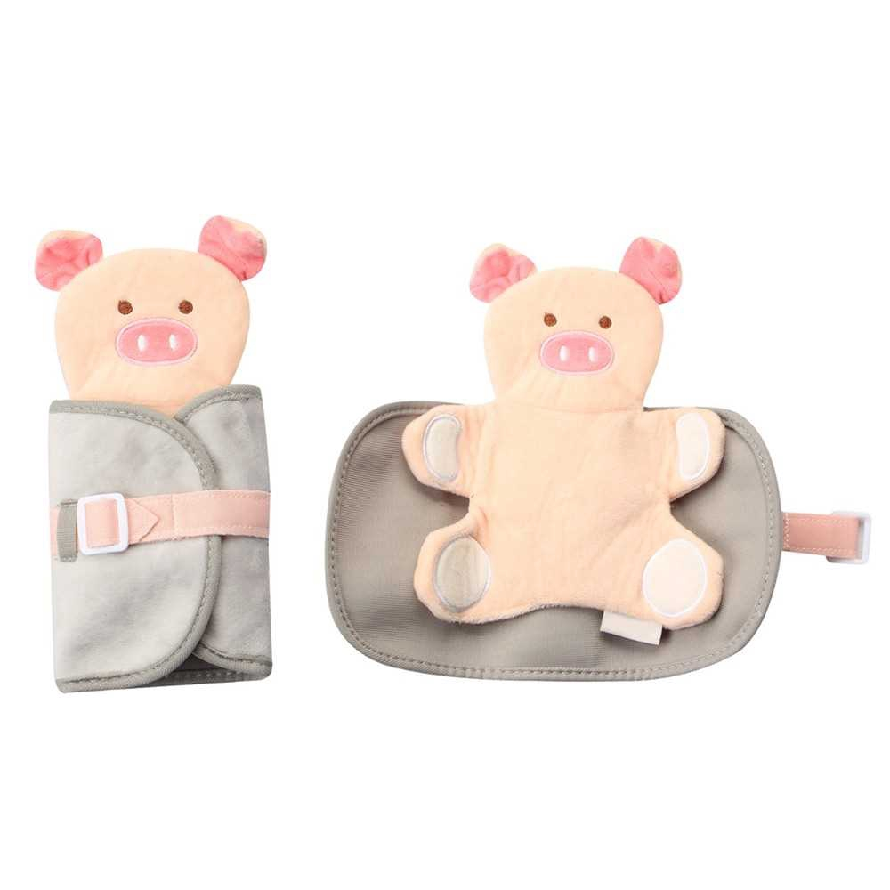 Early Learning Cartoon Pig Model Wearing Clothes Dressing Clothes Baby Kids Educational Toy (Grey)