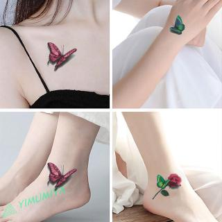 Mo 3d Flowers Tattoo Stickers Waterproof Temporary Tattoo False Body Art Tattoo Arm Leg Beauty Decals Shopee Malaysia