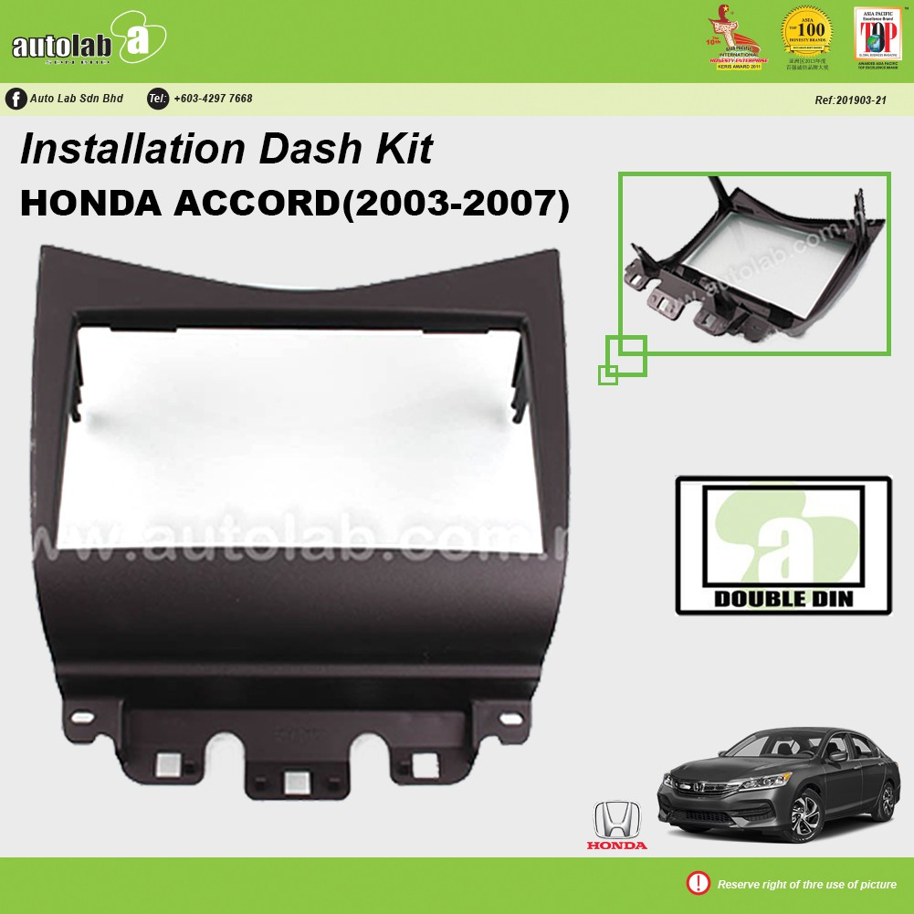 Player Casing Double Din Honda Accord 2003-2007