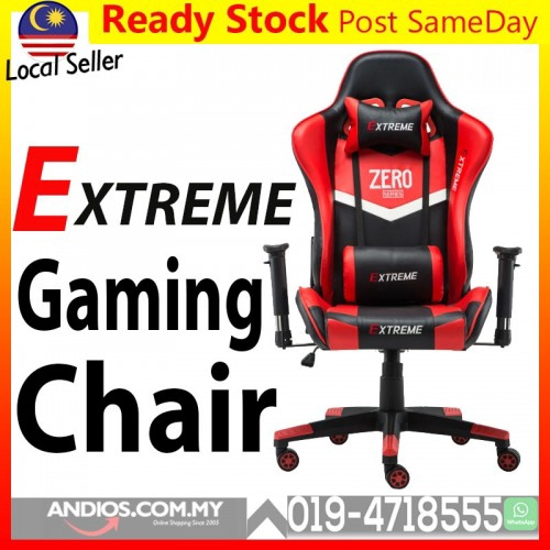 Amazing Extreme Pro Leather Gaming Chair Kerusi Game Racing Computer Cyber Cafe Seat Theyellowbook Wood Chair Design Ideas Theyellowbookinfo