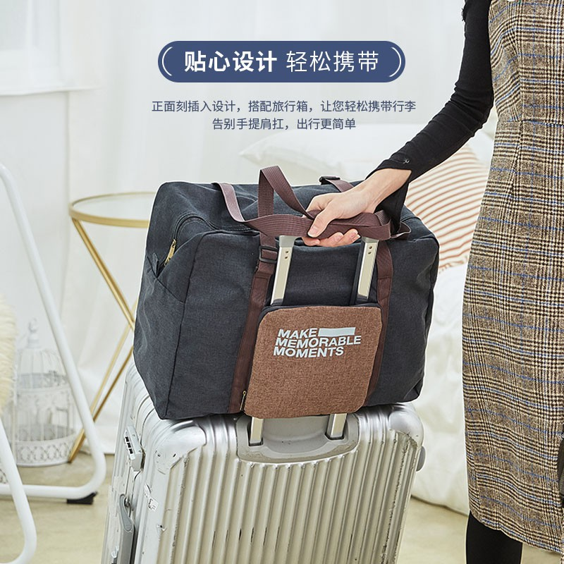 b9a5a25759d8 Tote Bag✥Luggage female hand-held portable folding clothes bag large  capacity can be set rolling suitcase