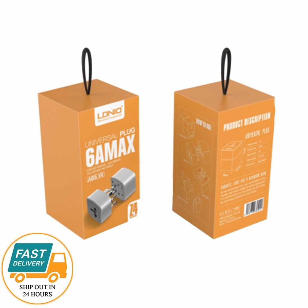 Original LDNIO Z4 Universal Plug 6AMAX Travel Adapter