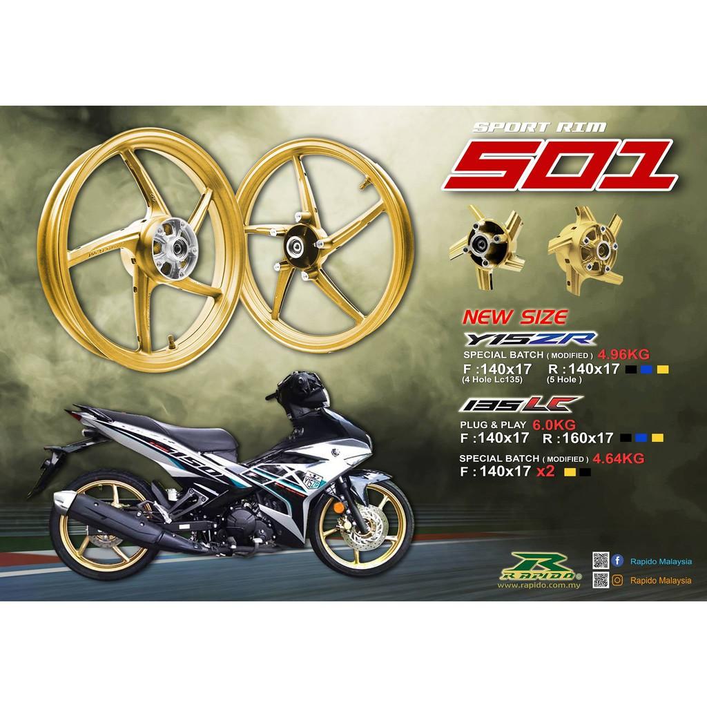 Rapido 501 Sport Rim   Y15ZR & LC135