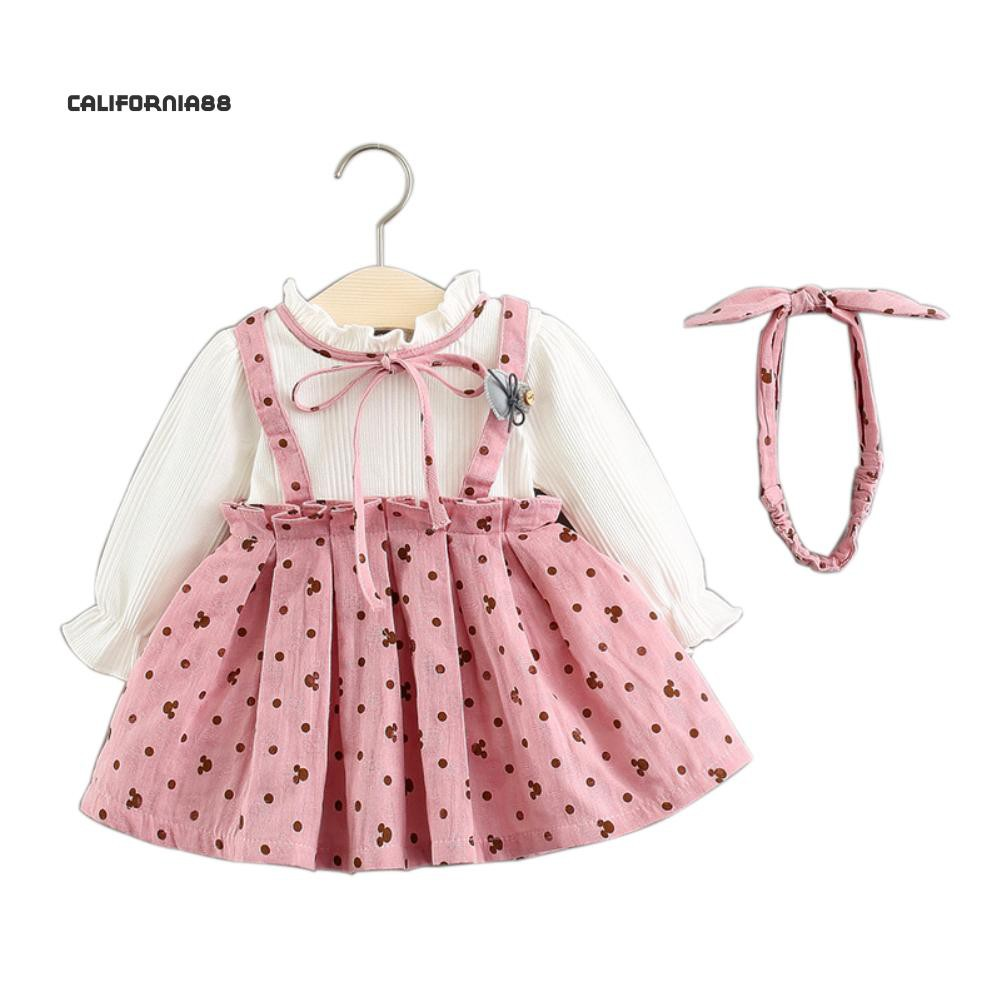70dcf9824327 ProductImage. Sold Out. Cali☆Fashion Kids Girls Cotton Autumn Long Sleeve  Princess Dress Party Clothes