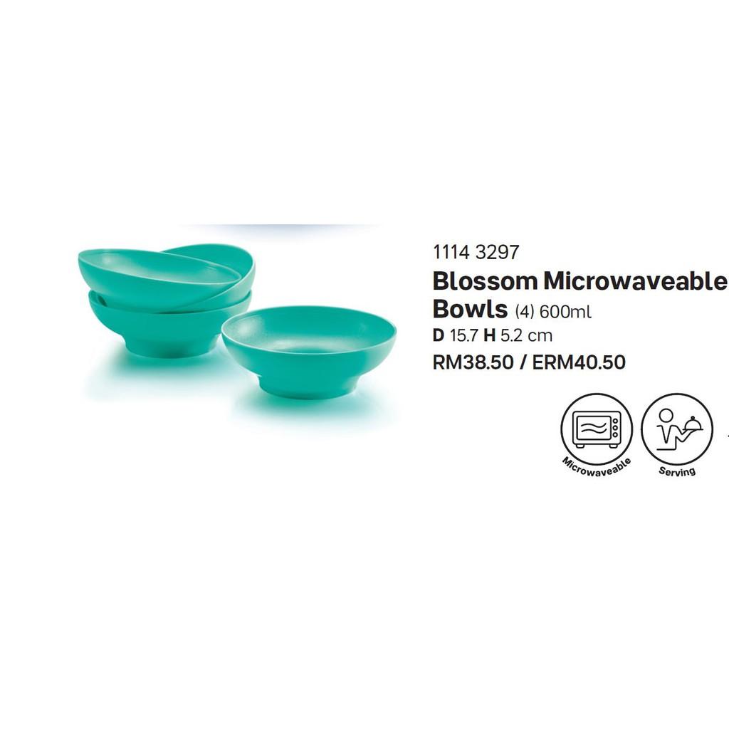 Tupperware Blossom Microwaveable Bowls (4)