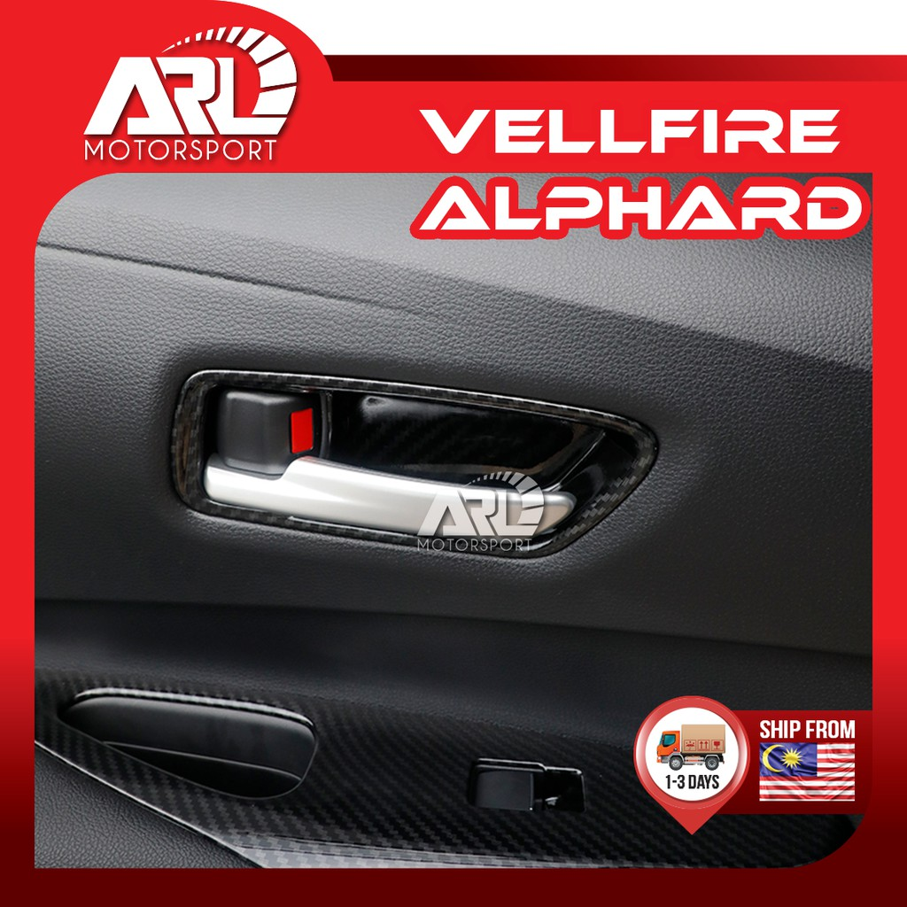 Toyota Alphard / Vellfire (2015-2020)AH30 AGH30 Inner Handle Cover Protector Carbon Car Auto Acccessories ARL Motorsport