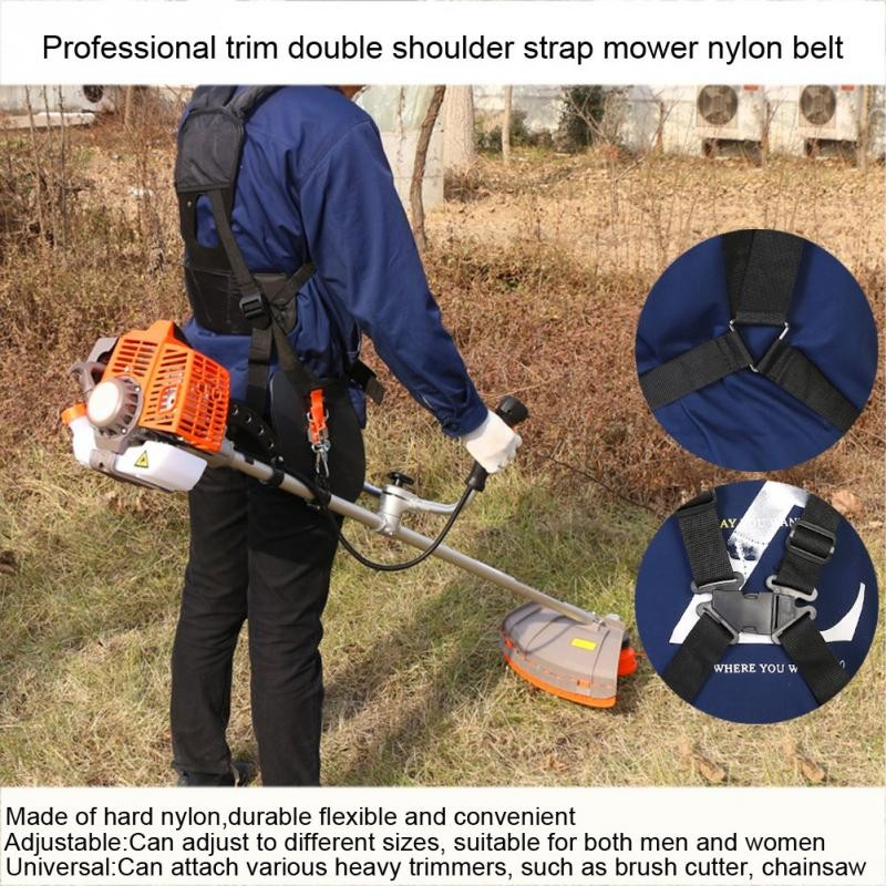 Apparel Sewing & Fabric Nylon Convenient Trimmer Adjustable Double Shoulder Strap Mower M-shaped Belt For Brush Cutter Garden Belt Power Pruner Tools