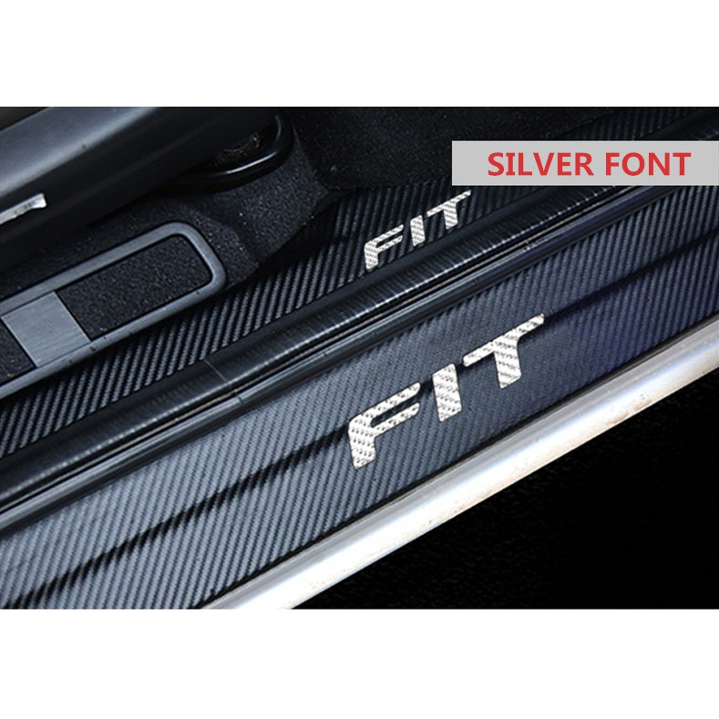 Honda Jazz GK5 Fit Carbon Leather Side Step Protector