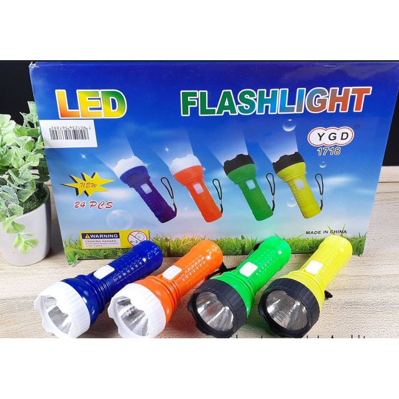 Mini LED Torch Flashlight Colorful Torch Light YGD-1718