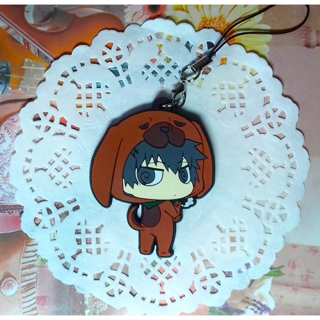 Anime PSYCHO-PASS Rubber keychain Straps cosplay