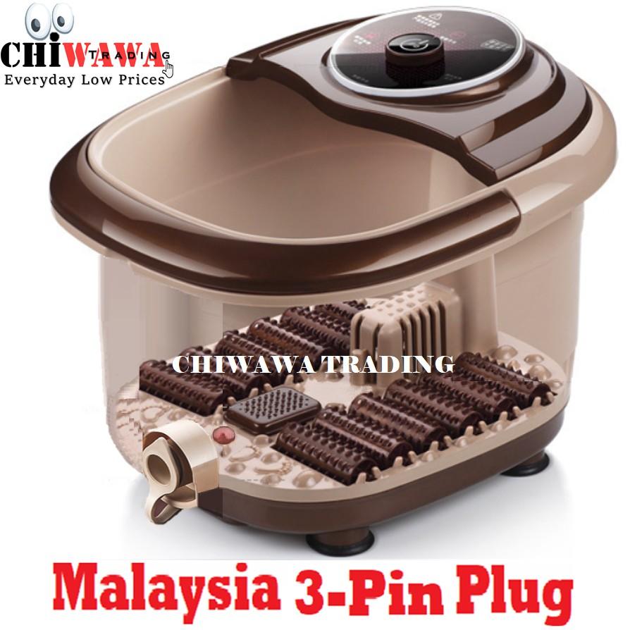 【Malaysia 3-Pin Plug】Foot Detox Spa Leg Bath 12 Roller Massager Heat Infrared