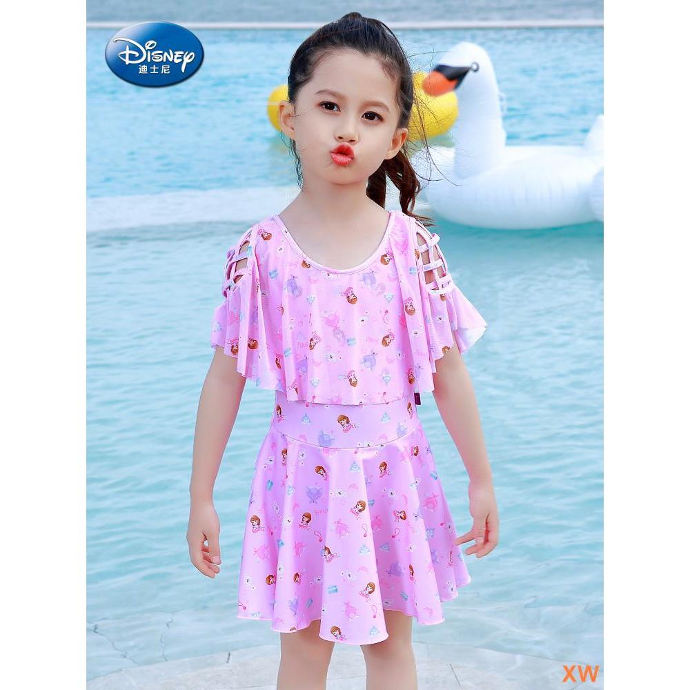 dbe2f7b3bf4e8 [XW] Disney children's swimwear girls big children princess dress swimwear  conjo