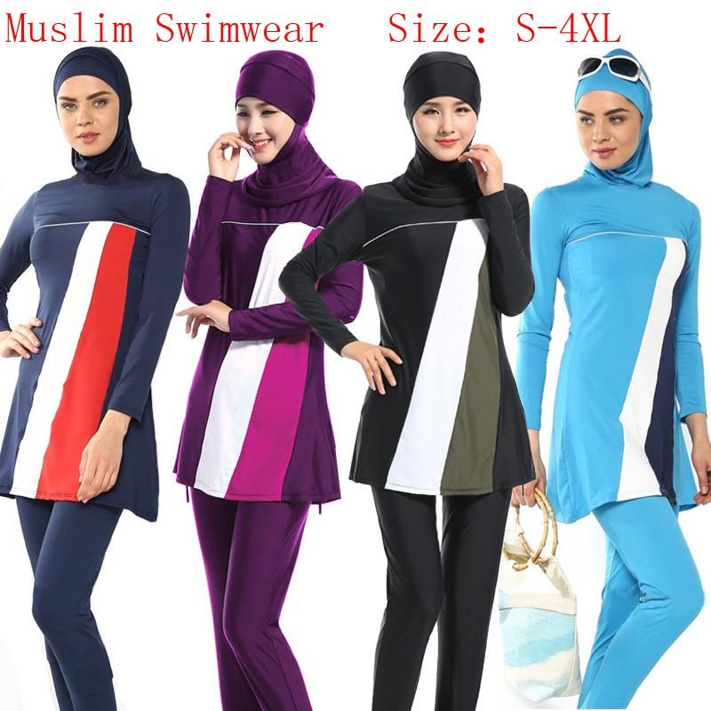 0cee79bdbd XS-4XL Women Muslim Swimwear Beach Bathing Suit Muslimah Islamic Swimsuit |  Shopee Malaysia