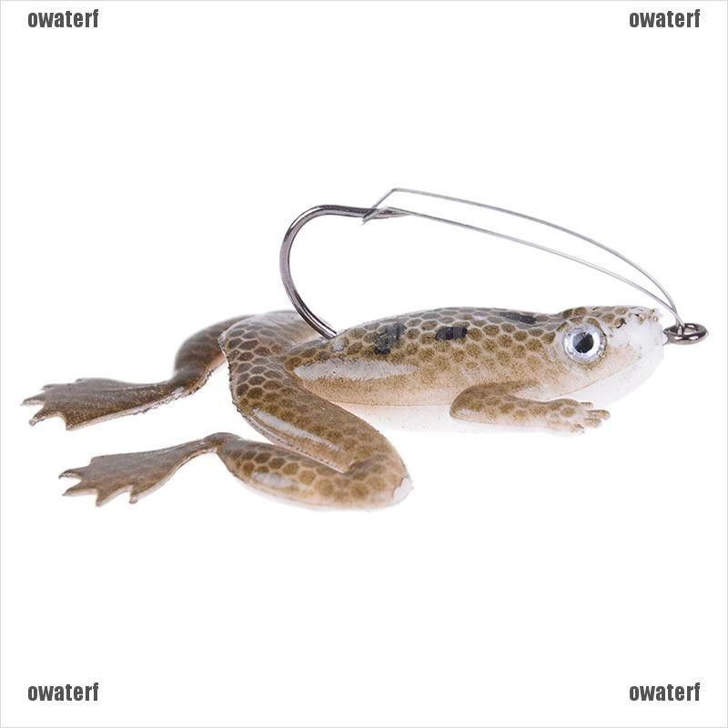 Lot 1Pcs Plastic Frog Fishing Lures ass Spinner Bait Weedless Hook Tackle 6L  sp
