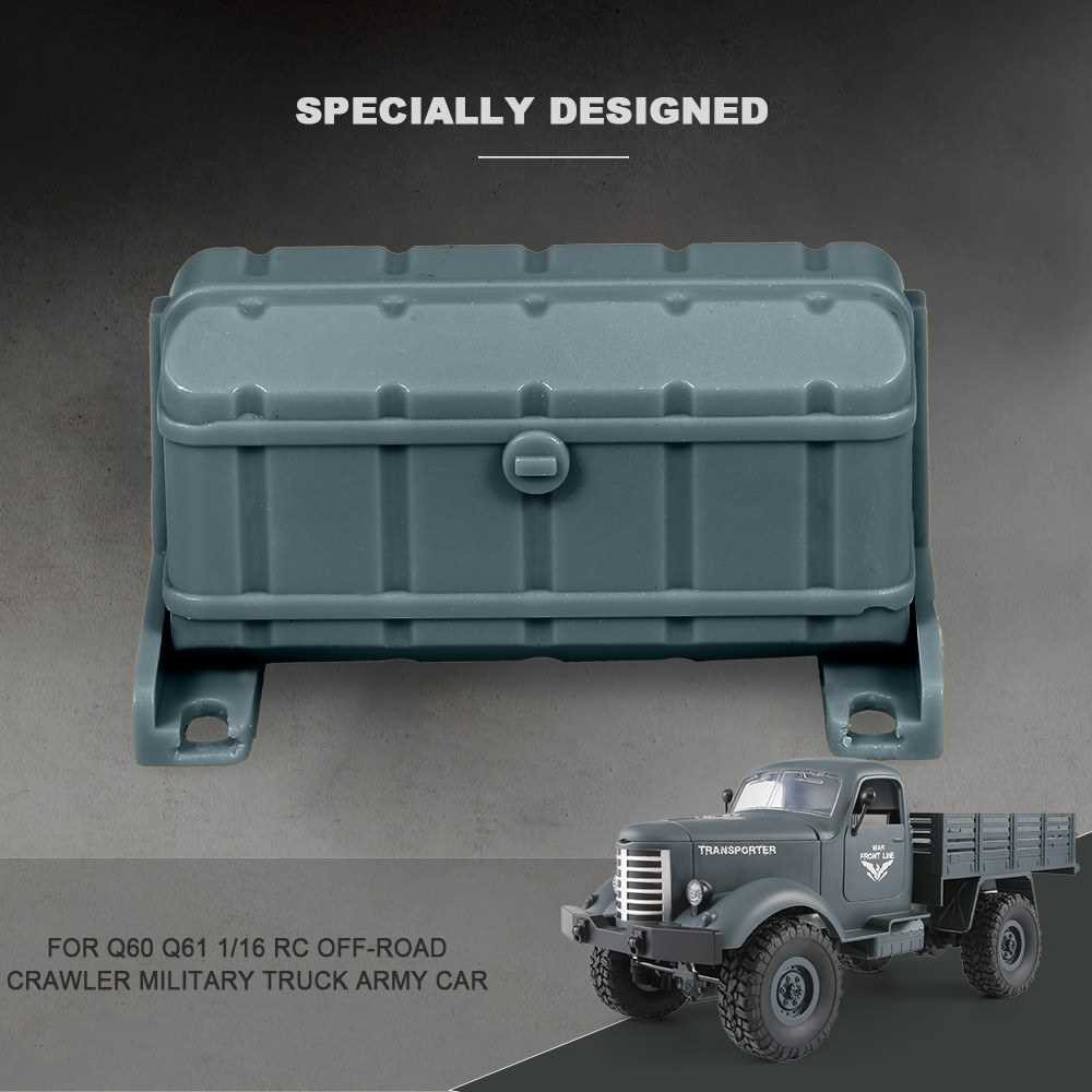 JJR/C Oil Tank Decorate Box for Q60 Q61 1/16 2.4G RC Off-road Crawler Military Truck Army Car (Bl2)
