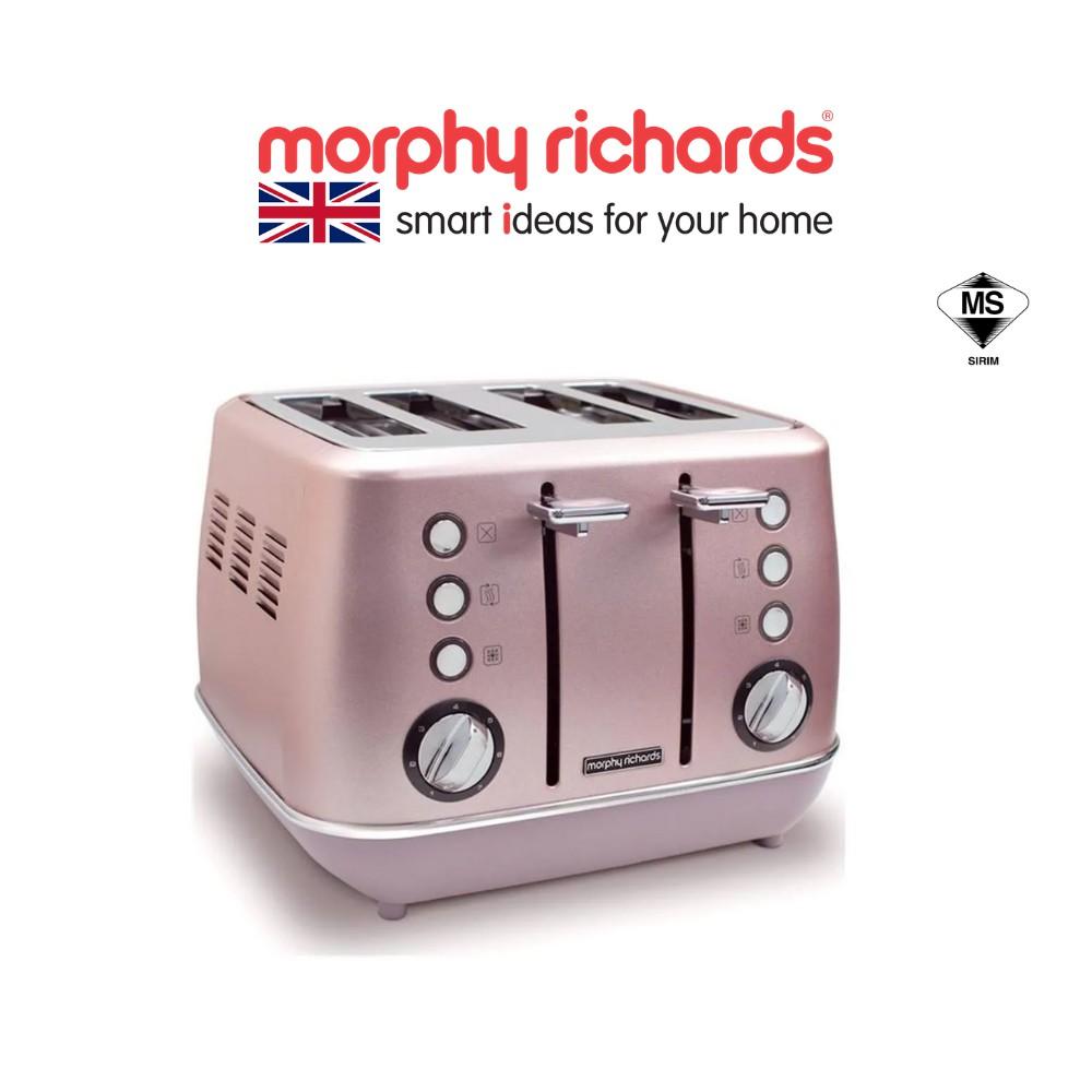Morphy Richards Evoke 4 Slice Toaster - Rose Quartz 240117